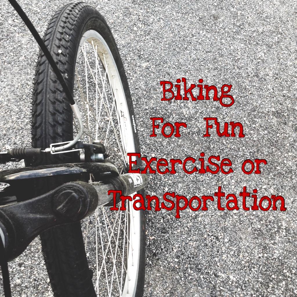 Biking for Fun Exercise or Transportation