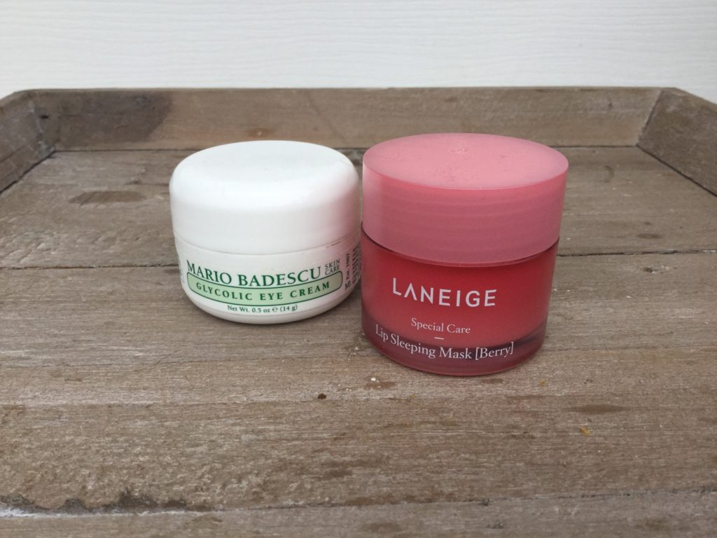 Favorite glycolic eye cream and lip mask