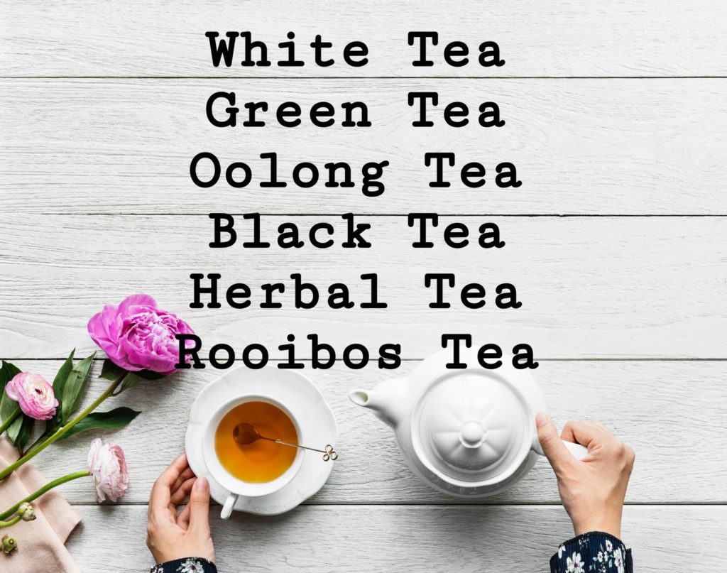 6 kinds of Tea