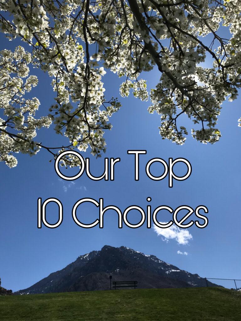 Top 10 choices