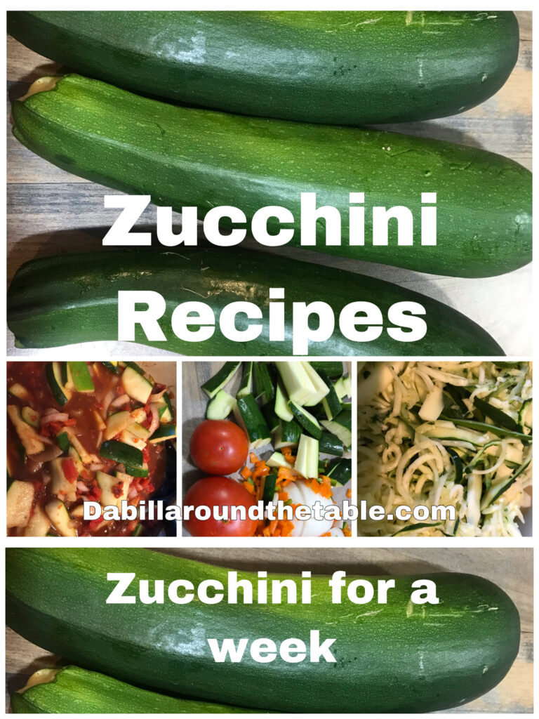 Zucchini for a week